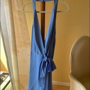 DVF Violet Halter Dress